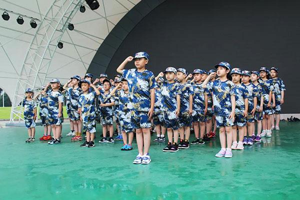上海松江14天少年军官军事夏令营